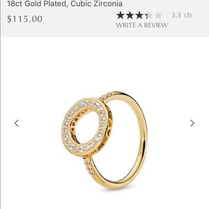 Pandora cubic zirconia ring